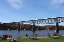 Ponte da estrada de ferro de Poughkeepsie fotos de stock
