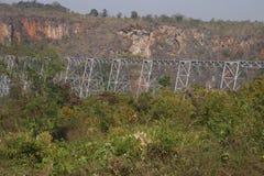 Ponte da estrada de ferro do viaduto de Gokteik Foto de Stock