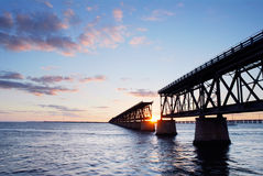 Ponte da estrada de ferro no parque de estado de Baía Honda   Imagem de Stock