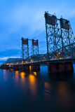 Ponte da estrada do Bascule em I-5 Portland de um estado a outro Oregon Imagem de Stock Royalty Free