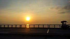 Ponte da estrada no mar Imagem de Stock