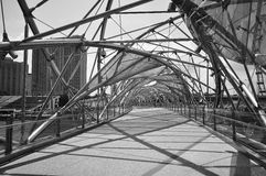 A ponte da hélice, Singapore Imagem de Stock