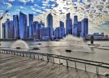 A ponte da hélice, Singapore foto de stock royalty free