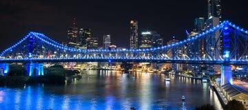 Ponte da história na véspera de anos novos 2016 em Brisbane Imagem de Stock Royalty Free