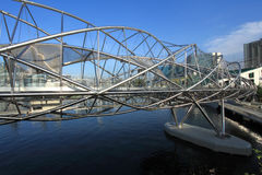 A ponte da hélice, Singapore Imagens de Stock