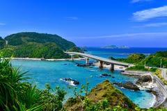 Ponte da ilha da ilha de Okinawa aka imagens de stock royalty free