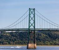 Ponte da ilha de Orleans foto de stock