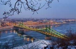 Ponte da liberdade em Budapest imagens de stock
