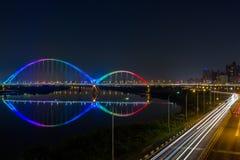 Ponte da lua nova Fotografia de Stock Royalty Free