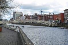 Ponte da moeda de um centavo do Ha em Dublin Imagens de Stock