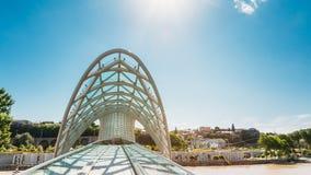 A ponte da paz é ponte pedestre sobre o Rio Kura dentro Fotos de Stock