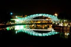 Ponte da paz em Tbilisi Foto de Stock Royalty Free