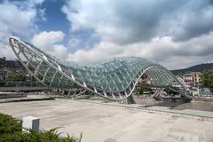 Ponte da paz em Tbilisi Foto de Stock