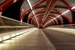Ponte da paz na noite fotos de stock royalty free