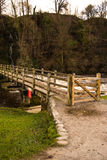 Ponte da pedra de Bolton Abbey Stepping Foto de Stock Royalty Free