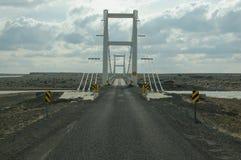 Ponte da pista do islandês um Foto de Stock