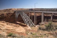 Ponte da represa de Glen Canyon Dam de Carl Hayden Visitor Centre Page Arizona fotografia de stock