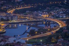 Ponte DA Ria Pontevedra Galicia Spain image stock
