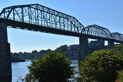 Ponte da rua da noz em Chattanooga, Tennessee Imagem de Stock Royalty Free