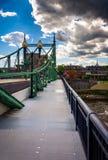 A ponte da rua de Northampton sobre o Rio Delaware em Easton, Imagens de Stock