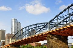 Ponte da rua de Smithfield imagens de stock