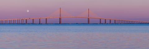 Ponte da skyline (panorâmico) Fotografia de Stock Royalty Free