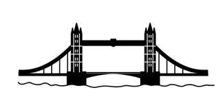 Ponte da torre de Londres linear Imagens de Stock Royalty Free