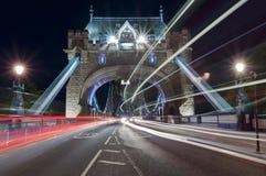 Ponte da torre na noite Foto de Stock