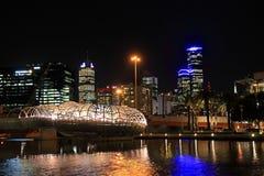 Ponte da Web da noite de Melbourne Imagem de Stock