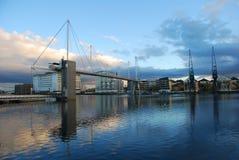 Ponte das zonas das docas de Londres Fotografia de Stock Royalty Free