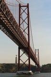 ponte de 2ö abril em Lisboa Fotografia de Stock
