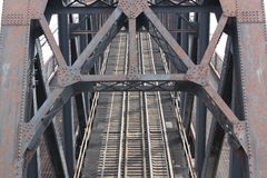 Ponte de aço do trem Fotos de Stock