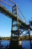 Ponte de aço velha, Maine imagens de stock royalty free