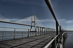 Ponte 25 de Abril Brücke Portugal Lizenzfreie Stockfotos