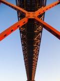 Ponte 25 de Abril Bridge Famous Architectural Sight Lisbon Portu Stock Images