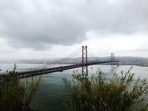 Bridge in Lisbon royalty free stock images