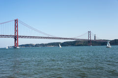 Ponte 25 de Abril bridge lisbon Royalty Free Stock Image