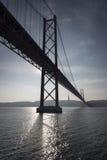 Ponte 25 de Abril e la statua di Cristo il re Fotografie Stock