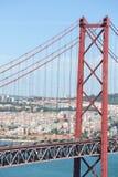 Ponte 25 de Abril en Lisboa, Portugal Imagen de archivo