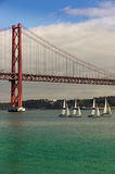 Ponte 25 de Abril in Lisbon Royalty Free Stock Images