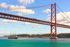 Ponte 25 de Abril in Lisbon Royalty Free Stock Photography