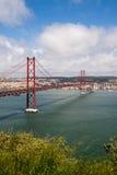 Ponte 25 DE Abril in Lissabon, Portugal Royalty-vrije Stock Foto's