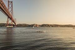 Ponte 25 de Abril Portugal Immagini Stock Libere da Diritti
