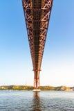 Ponte 25 De Abril Przerzucający most Sławny Architektoniczny Celowniczy Lisbon Port Obraz Royalty Free
