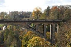 Ponte de Adolfo em Luxembourg Fotos de Stock Royalty Free