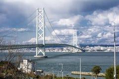 Ponte de Akashi Kaikyo fotografia de stock