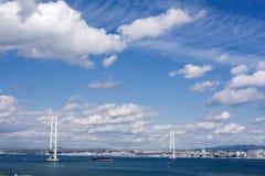 Ponte de Akashi Kaikyo imagens de stock