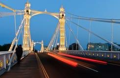 Ponte de Albert na noite Fotos de Stock