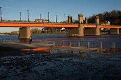 Ponte de Aleksoto imagens de stock royalty free