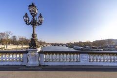 Ponte de Alexander III Fotografia de Stock